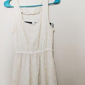 Dresses & Skirts - Boho White Highlow Dress
